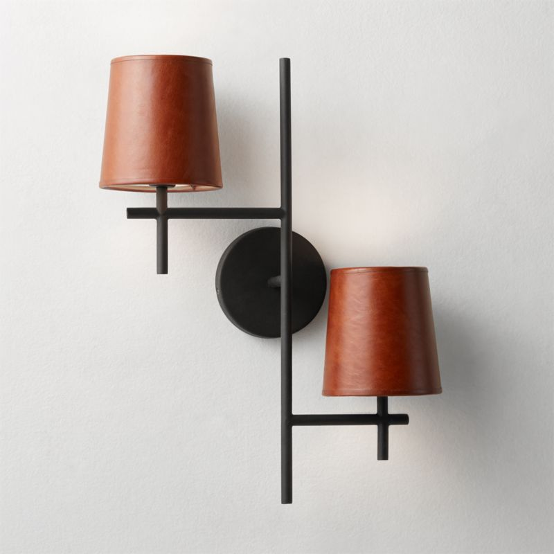 Reynold Matte Black Sconce by Crate&Barrel