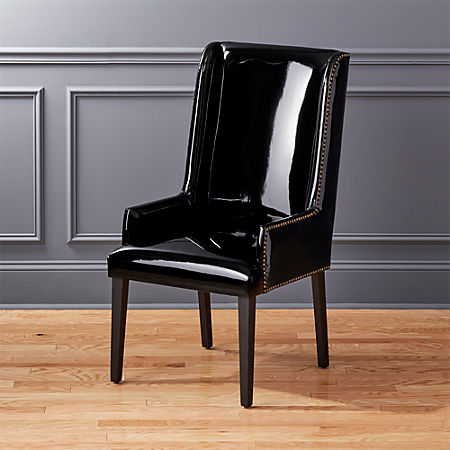 Marvelous Reynolds Black Patent Leather Chair Cjindustries Chair Design For Home Cjindustriesco