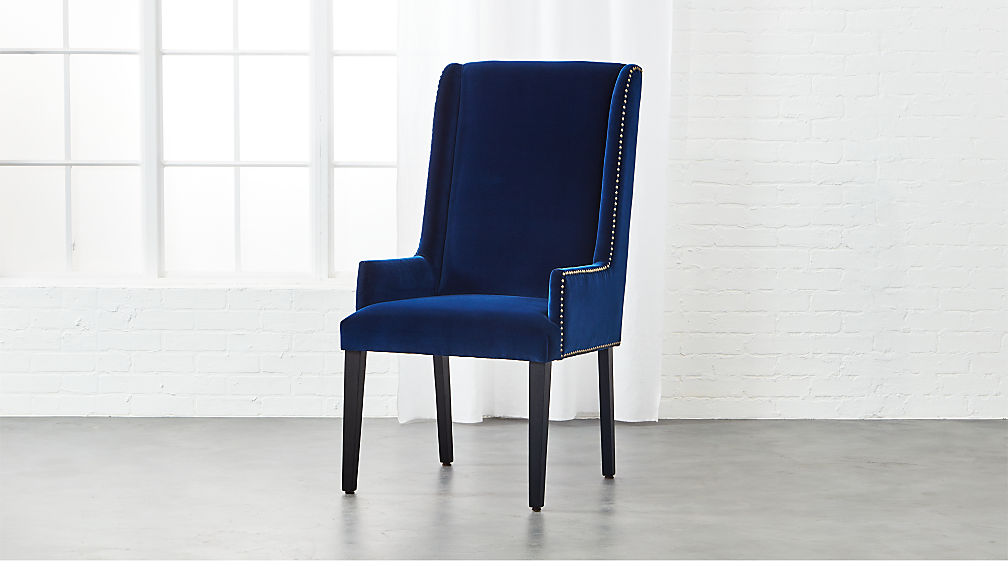 Super reynolds navy velvet chair + Reviews | CB2 FQ44