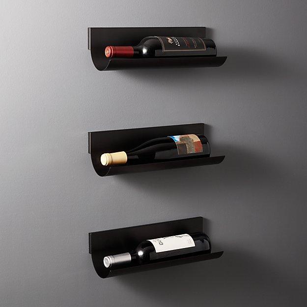Rhone Wall Mounted Single Wine Bottle Holder Set Of 3 Reviews Cb2