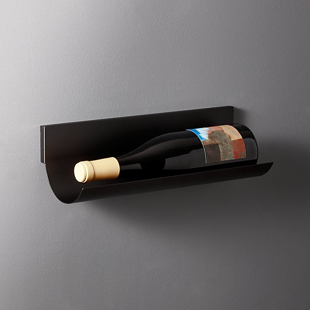 Rhone Wall Mounted Single Wine Bottle Holder Reviews Cb2