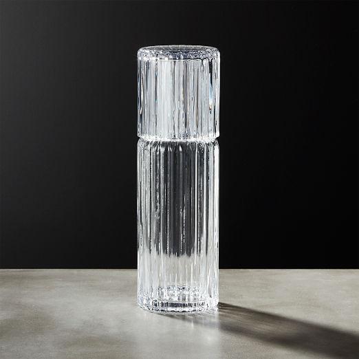 Ribbed Glass Carafe