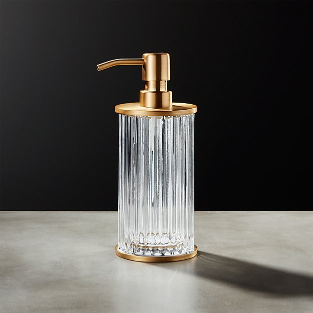 Ribbed Glass Soap Pump - Image 1 of 10