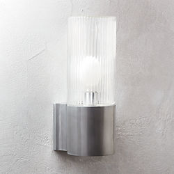Modern wall sconces cb2 ribbed indoor outdoor wall sconce aloadofball Images