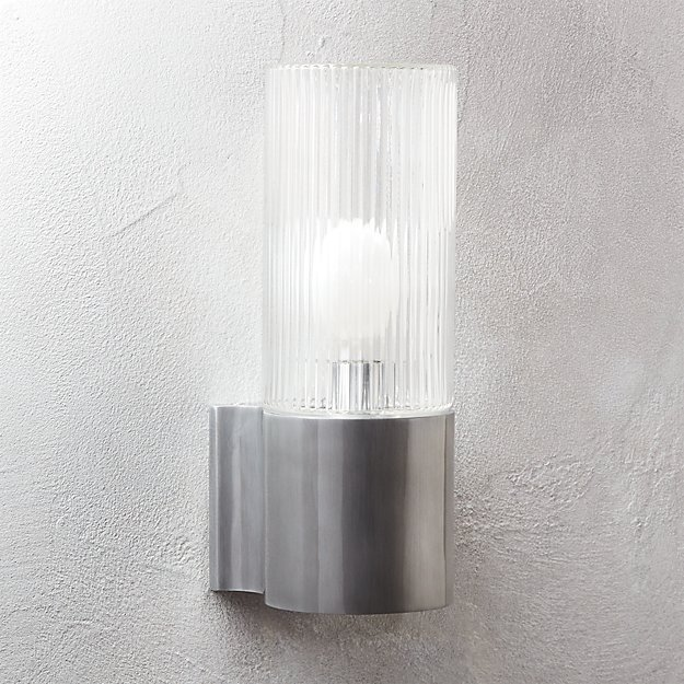 ribbed indoor-outdoor wall sconce + Reviews | CB2