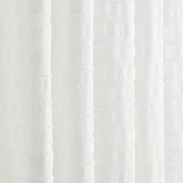 Ribbon White Shower Curtain Reviews