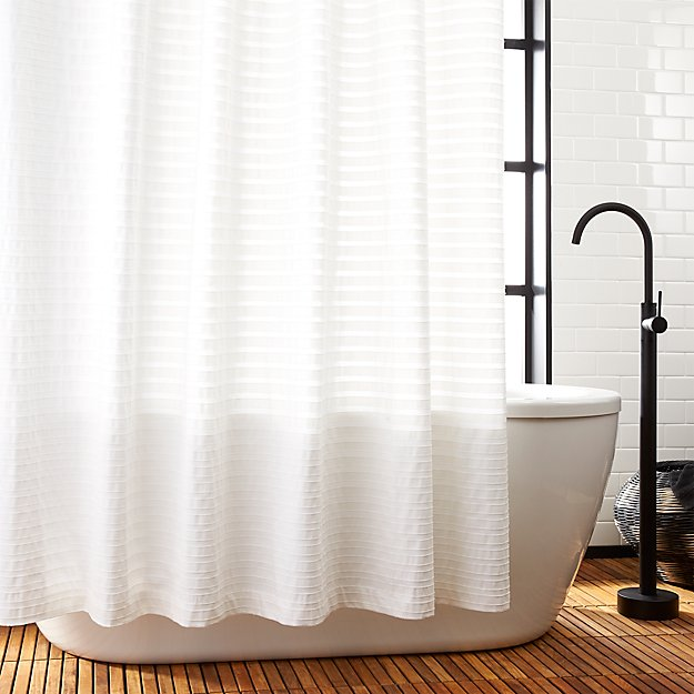 Ribbon White Shower Curtain Reviews