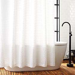 bathroom shower curtains. Ribbon White Shower Curtain Unique  Modern Curtains CB2