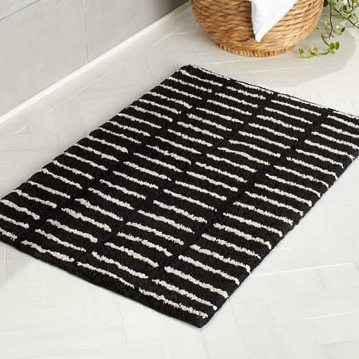 Riff Black and White Bath Mat