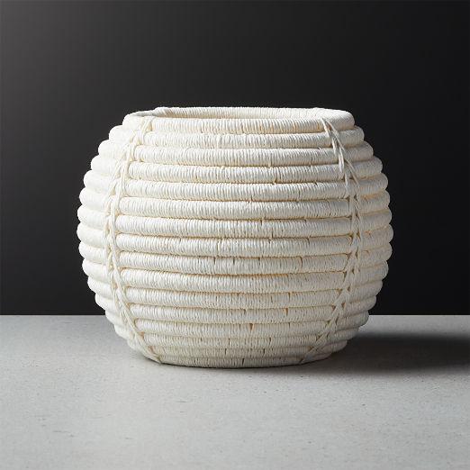 Rimini Ivory Basket Planter