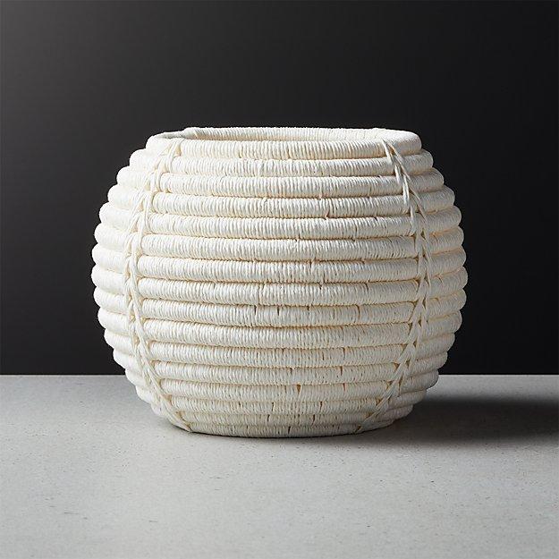 Rimini Ivory Basket Planter - Image 1 of 5
