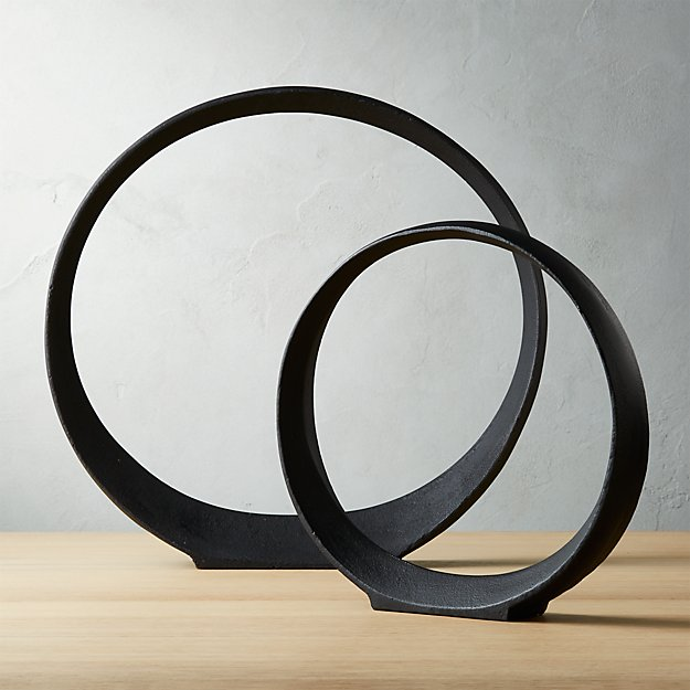 Metal Ring Sculptures - Image 1 of 10