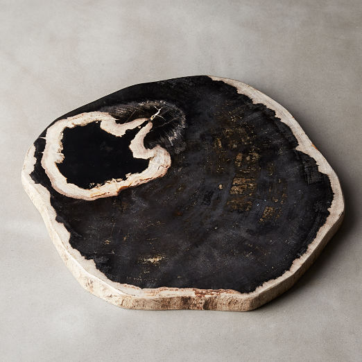 Ring Petrified Wood Serving Board