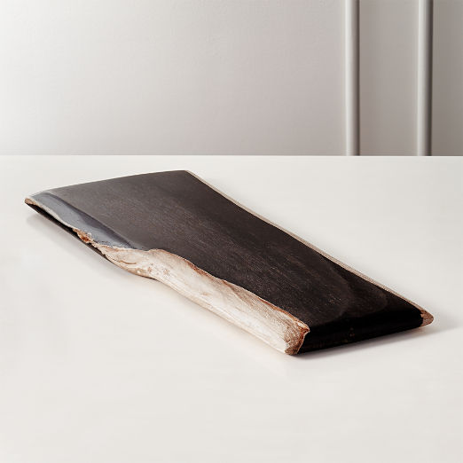 Ring Rectangular Petrified Wood Serving Board