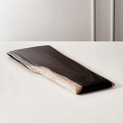 CB2 Ring Petrified Wood Serving Board