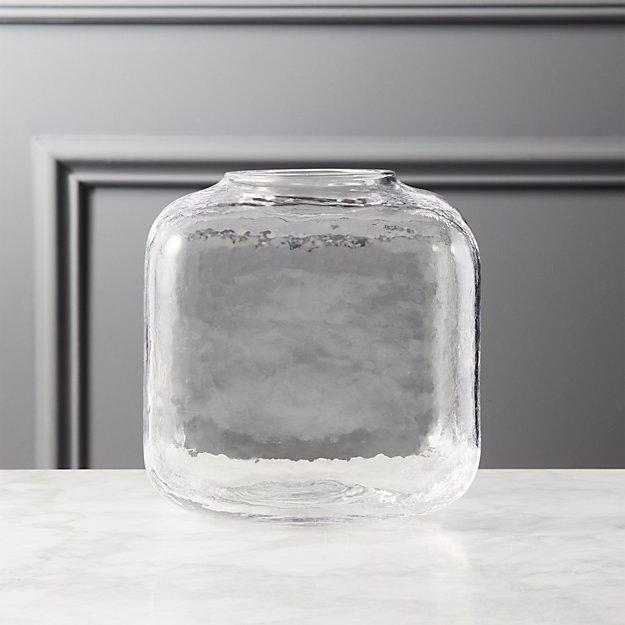 Ripley Large Glass Cube Vase Reviews Cb2
