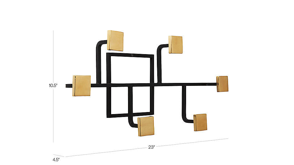 Image with dimension for Rise and Fall Coat Rack