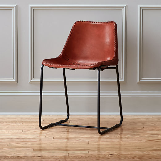 Roadhouse Leather Chair & leather dining chairs | CB2