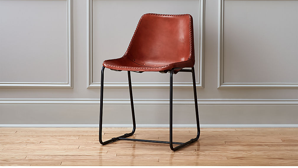 Roadhouse Leather Chair Reviews Cb2