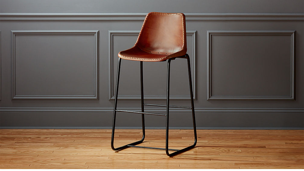 Roadhouse Leather 30 Bar Stool Reviews Cb2