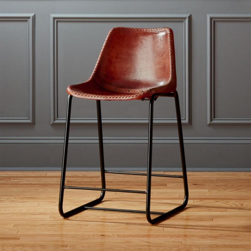 Roadhouse 24 Leather Counter Stool