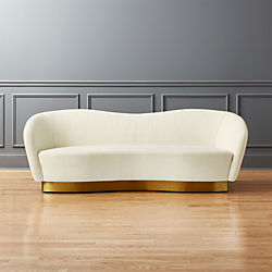 Robey Snow Curved Sofa