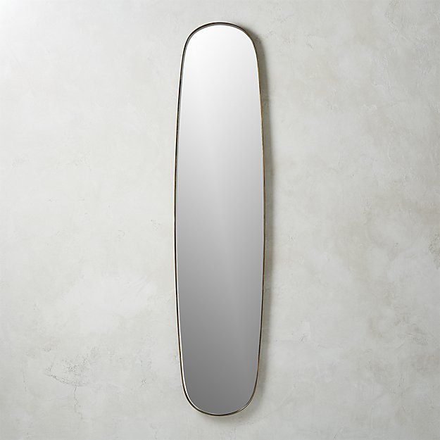 Rogue Large Brass Oval Mirror Reviews Cb2