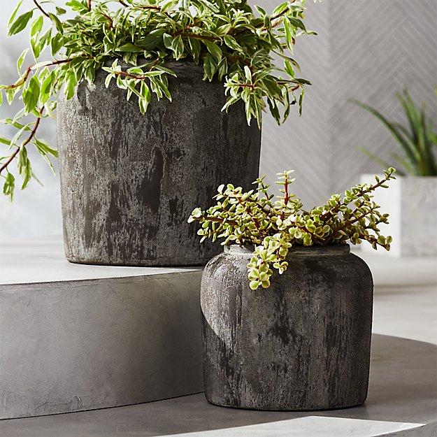 Roma Round Terracotta Planters - Image 1 of 11