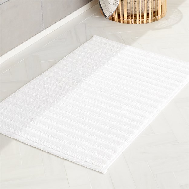 Ronan White Bath Mat - Image 1 of 3