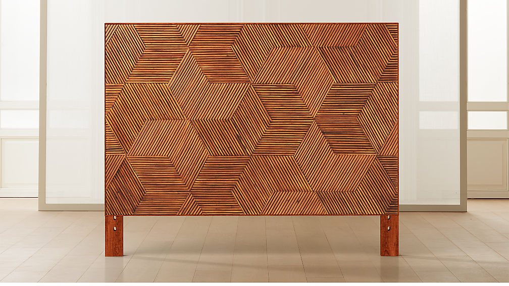 Roquette Rattan Headboard with Base Options - Image 1 of 9