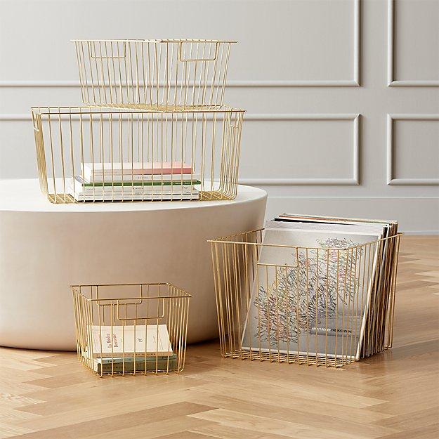 Roscoe Metal Baskets - Image 1 of 9