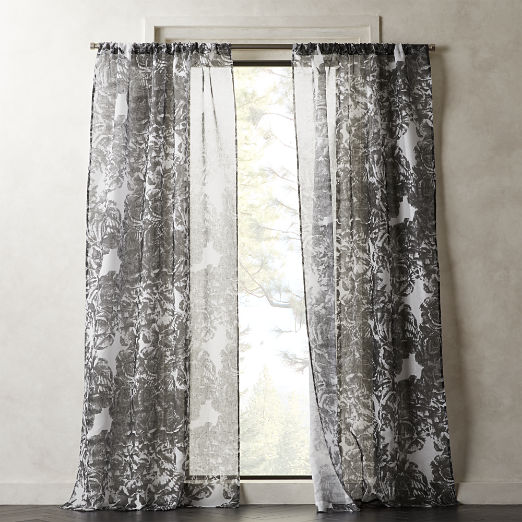 Rosny Floral Curtain Panel