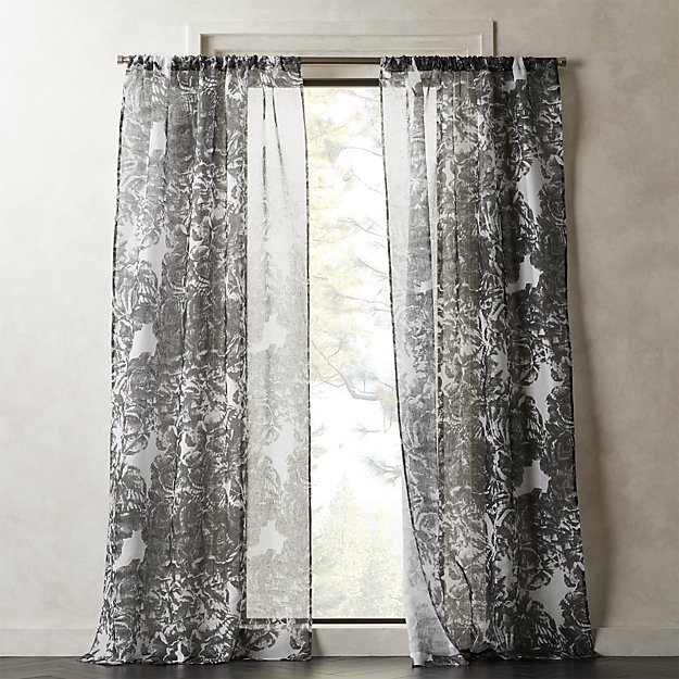 Rosny Floral Curtain Panel - Image 1 of 2