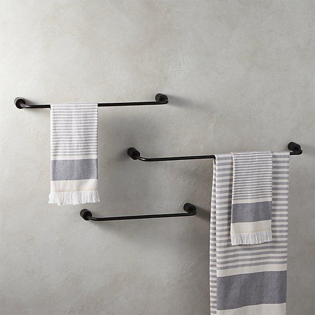 Rough Cast Black Towel Bars - Image 1 of 9