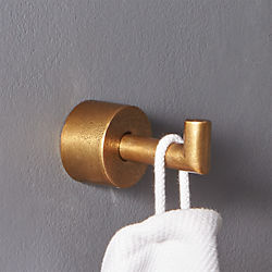 Rough Cast Brass Towel Hook