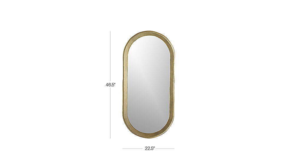 Image with dimension for Abel Oval Mirror