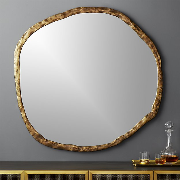 "Abel Round Mirror 48"" - Image 1 of 7"