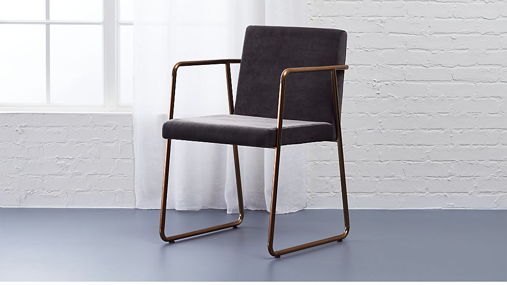 Exceptionnel Rouka Dark Grey Dining Chair + Reviews | CB2