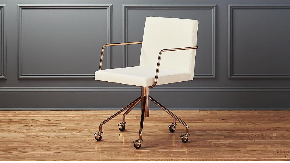 Rouka White Velvet Office Chair Reviews