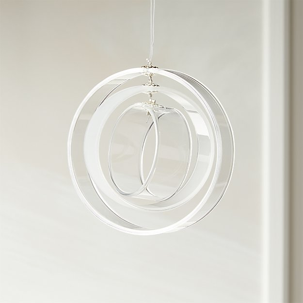 Round Clear and Frosted Ornament - Image 1 of 3