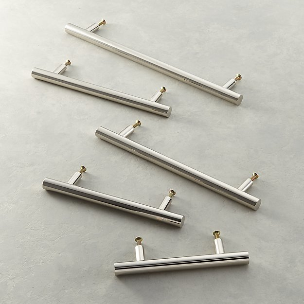 Polished Nickel Round Handles - Image 1 of 6