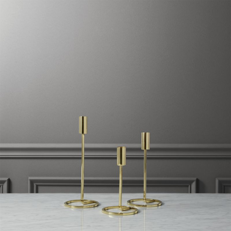 3 Piece Roundabout Taper Candle Holder Set