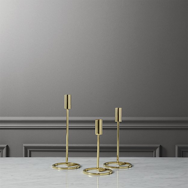 Beautiful 3-piece roundabout taper candle holder set + Reviews | CB2 CX21