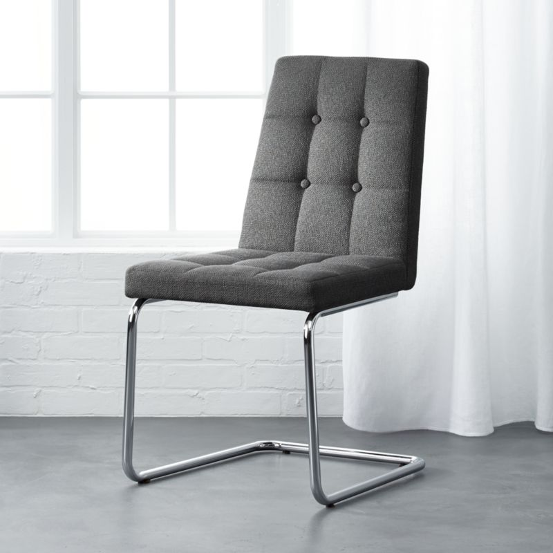 gray and white dining chairs comfy roya grey chair contemporary dining chairs cb2