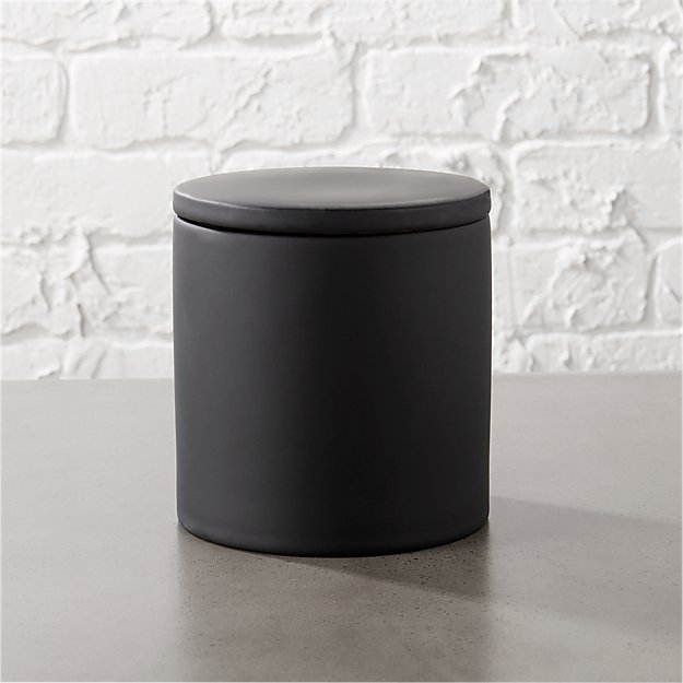 Rubber Coated Black Canister - Image 1 of 12