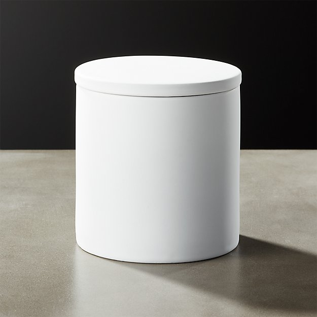 White Rubber Coated Canister - Image 1 of 10