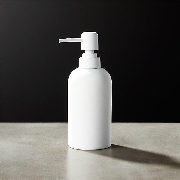 White Rubber Coated Soap Pump - Image 1 of 10