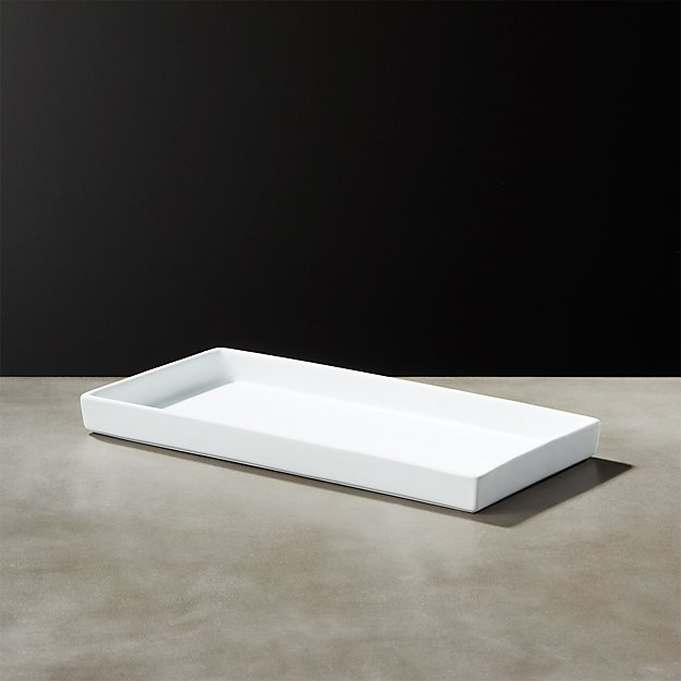 White Rubber Coated Tank Tray - Image 1 of 10