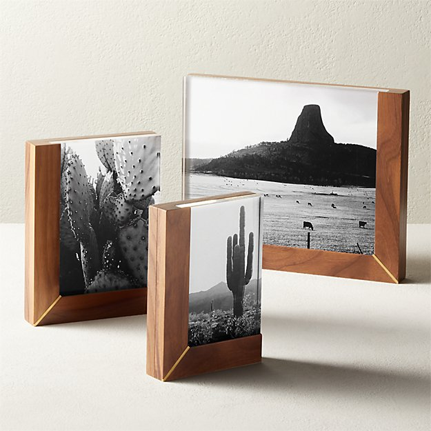 Rudd Walnut and Acrylic Frames - Image 1 of 6