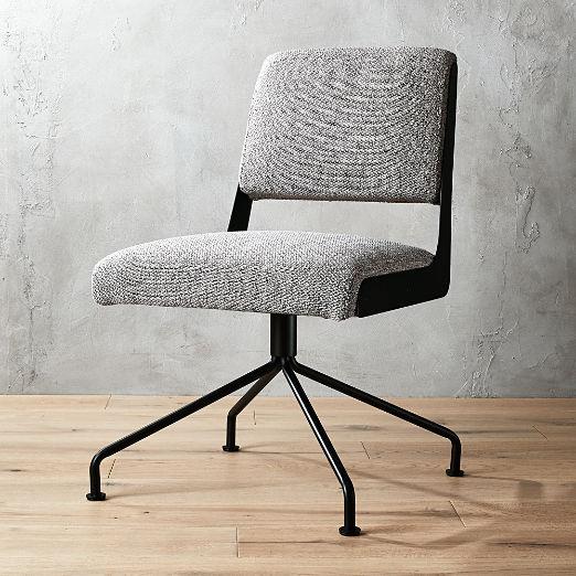Rue Cambon Grey Tweed Office Chair